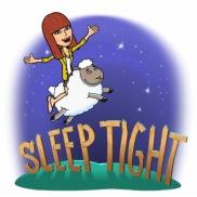 sleep well; have a nice sleep - used to say goodbye at nighttime