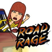 """angry and aggressive behavior from a driver who is upset with another driver. ::EX:: """"People often get road rage when they are late, or in traffic."""""""