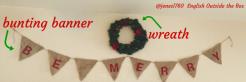 wreath banner