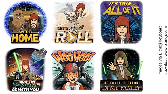 learn english with star wars bitmojis. bitmojis help you learn english online with this free online english lesson